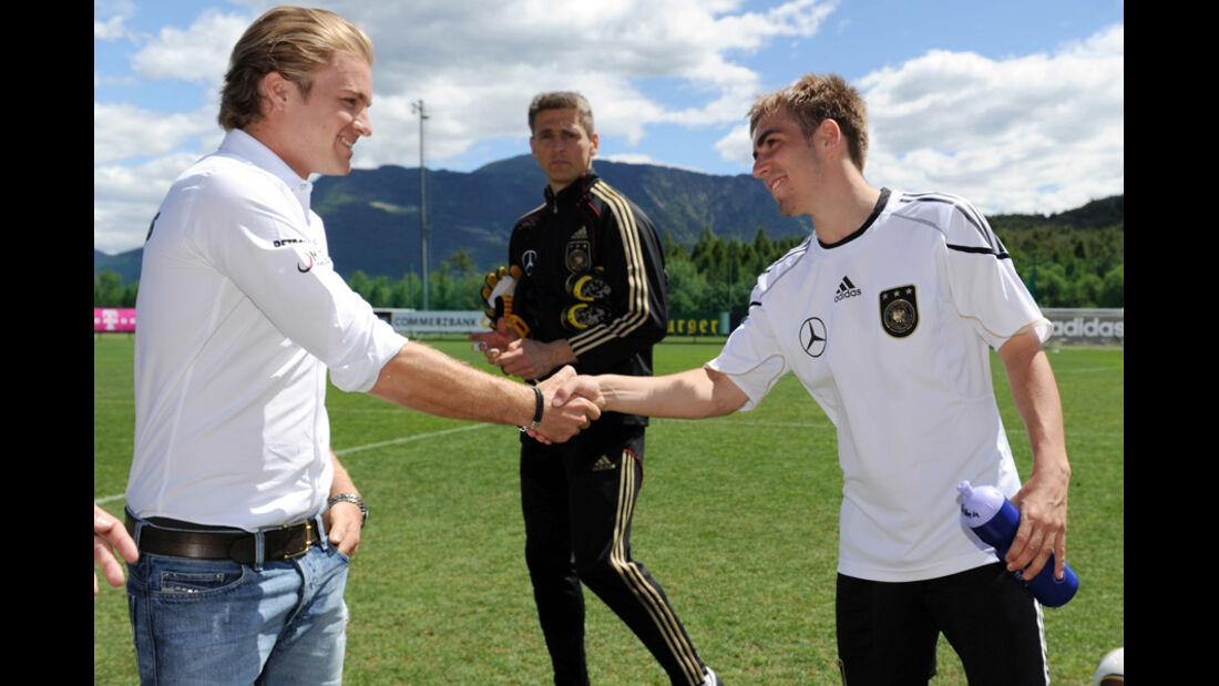 Rosberg und Lahm