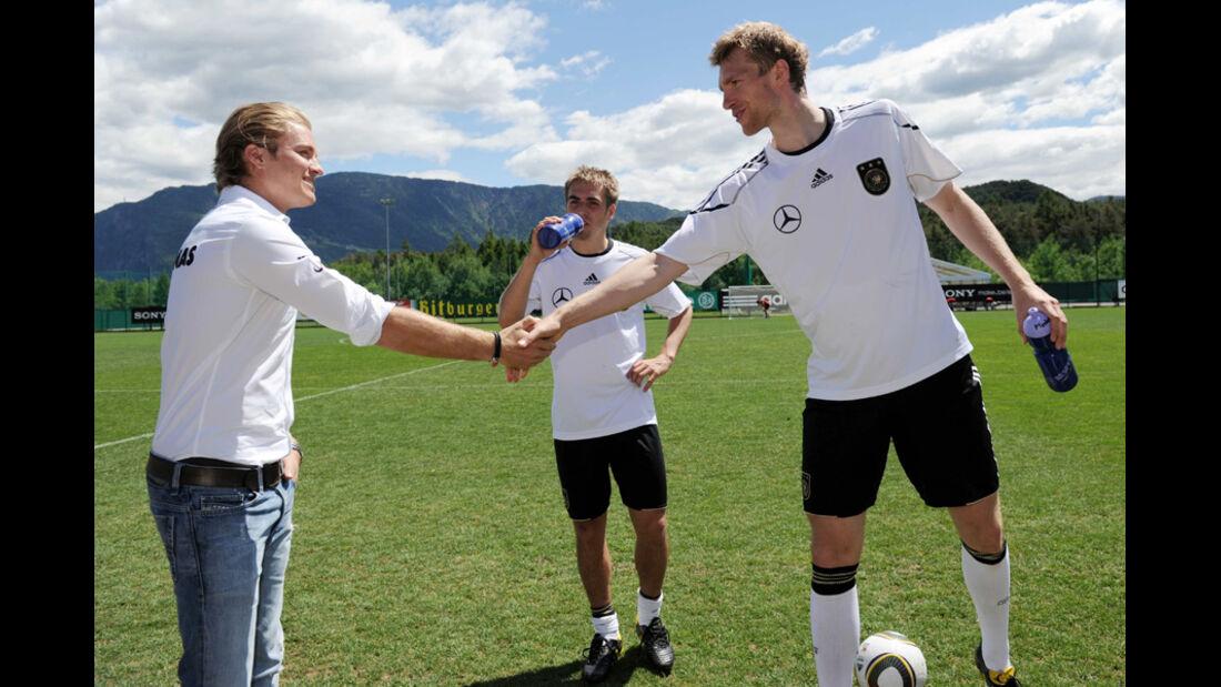 Rosberg und Mertesacker