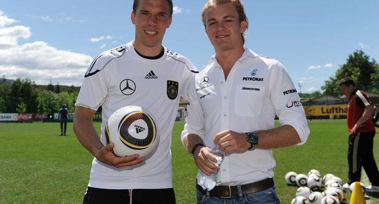 Rosberg und Podolski