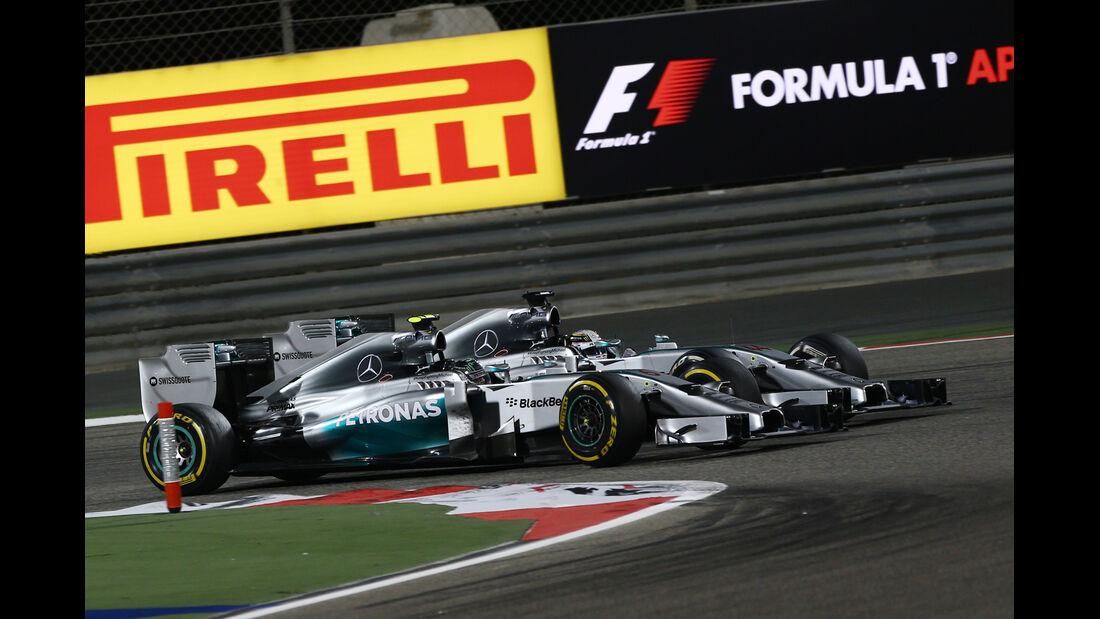 Rosberg vs. Hamilton - Formel 1 - GP Bahrain 2014