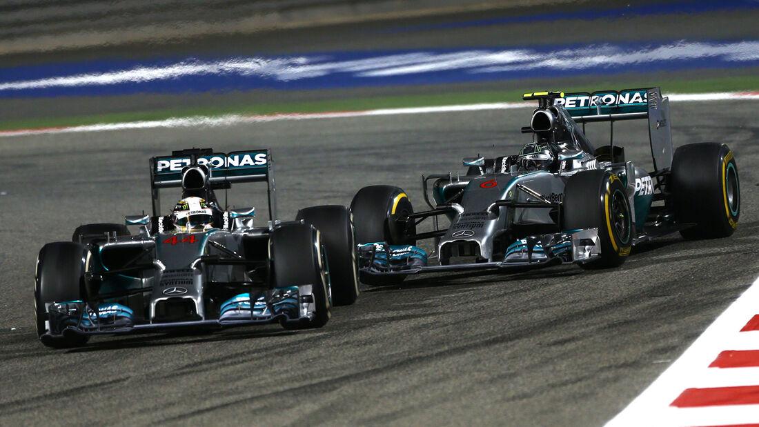 Rosberg vs. Hamilton - GP Bahrain 2014