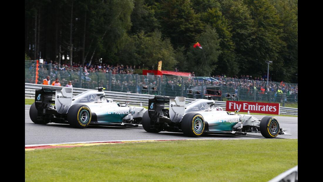 Rosberg vs. Hamilton - GP Belgien 2014