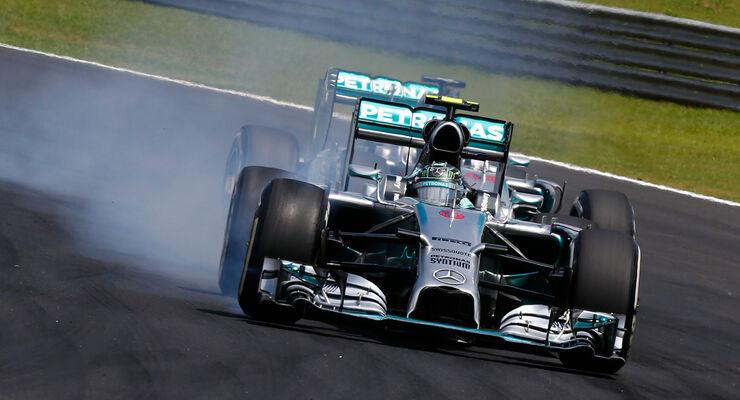 Rosberg vs. Hamilton - GP Brasilien 2014