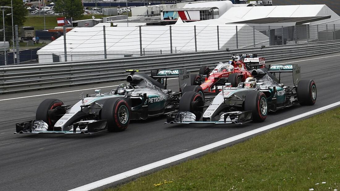 Rosberg vs. Hamilton - GP Österreich - 2015