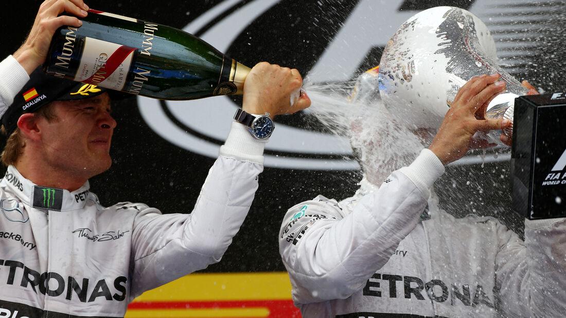 Rosberg vs. Hamilton - GP Spanien 2014