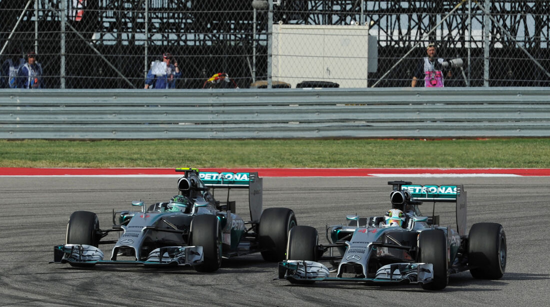 Rosberg vs. Hamilton - GP USA 2014