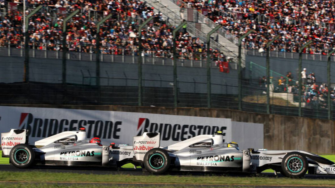 Rosberg vs. Schumacher in Japan