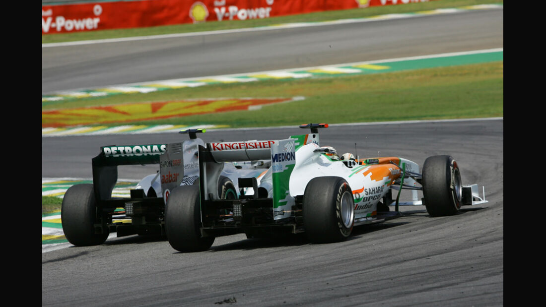 Rosberg vs. Sutil GP Brasilien 2011