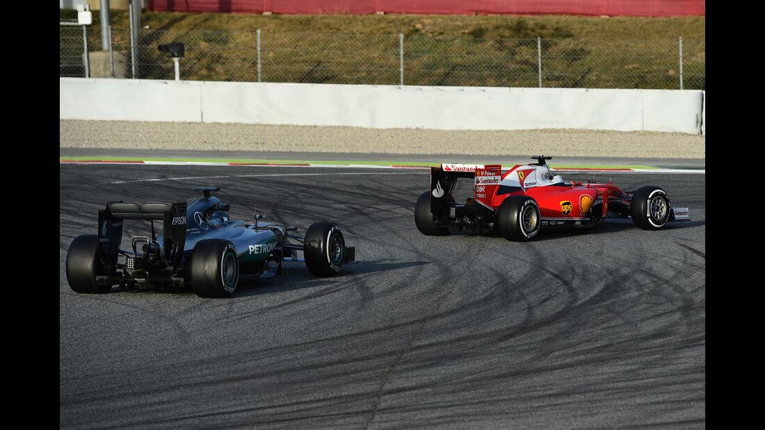 Rosberg vs. Vettel - Barcelona - F1-Test - 2016