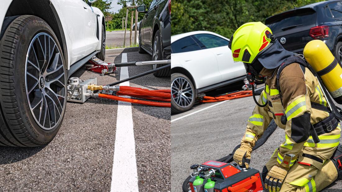 Rosenbauer Feuerwehr Akku-Loeschsystem