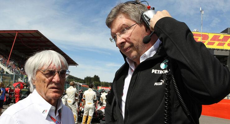 Ross Brawn Bernie Ecclestone 2012