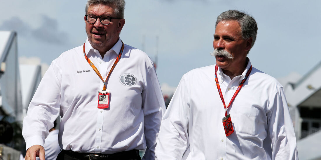 Ross Brawn - Chase Carey - Formel 1 - GP Japan 2017