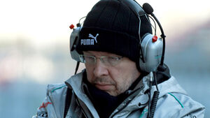 Ross Brawn Mercedes 2012 F1 Test