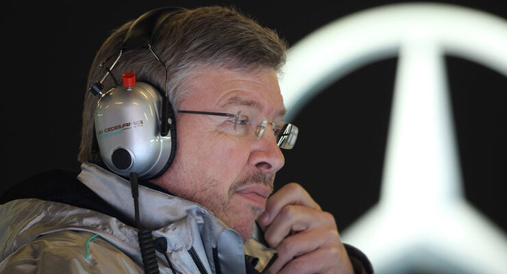 Ross Brawn Mercedes 2012 F1 Test Barcelona