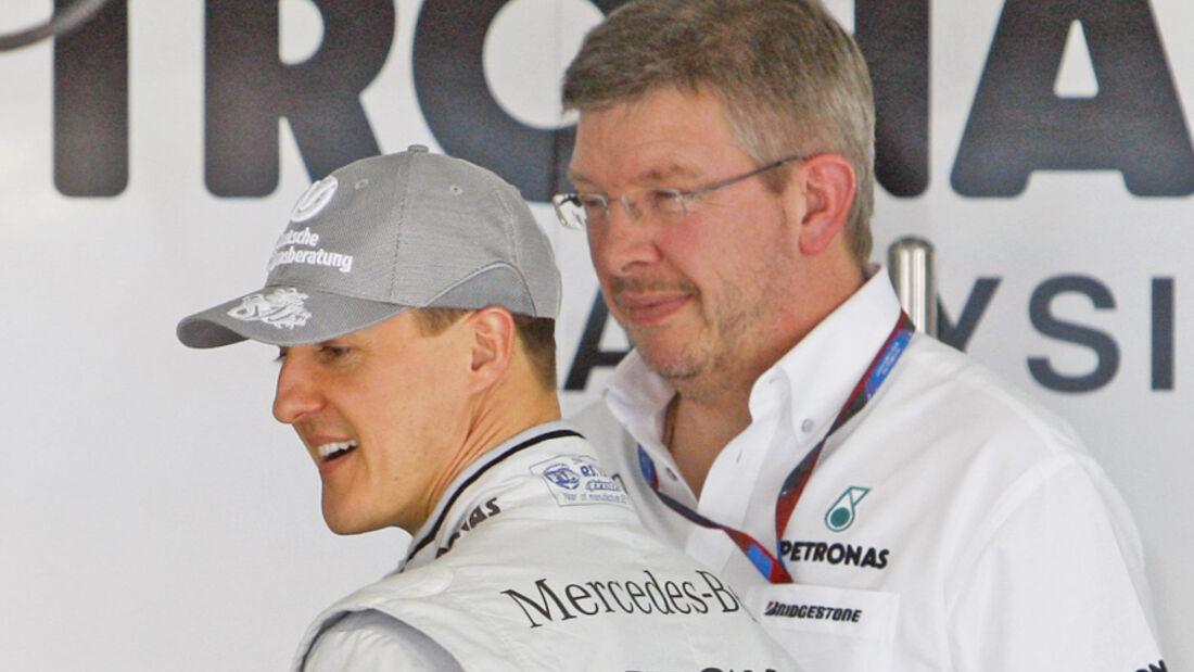Ross Brawn & Michael Schumacher