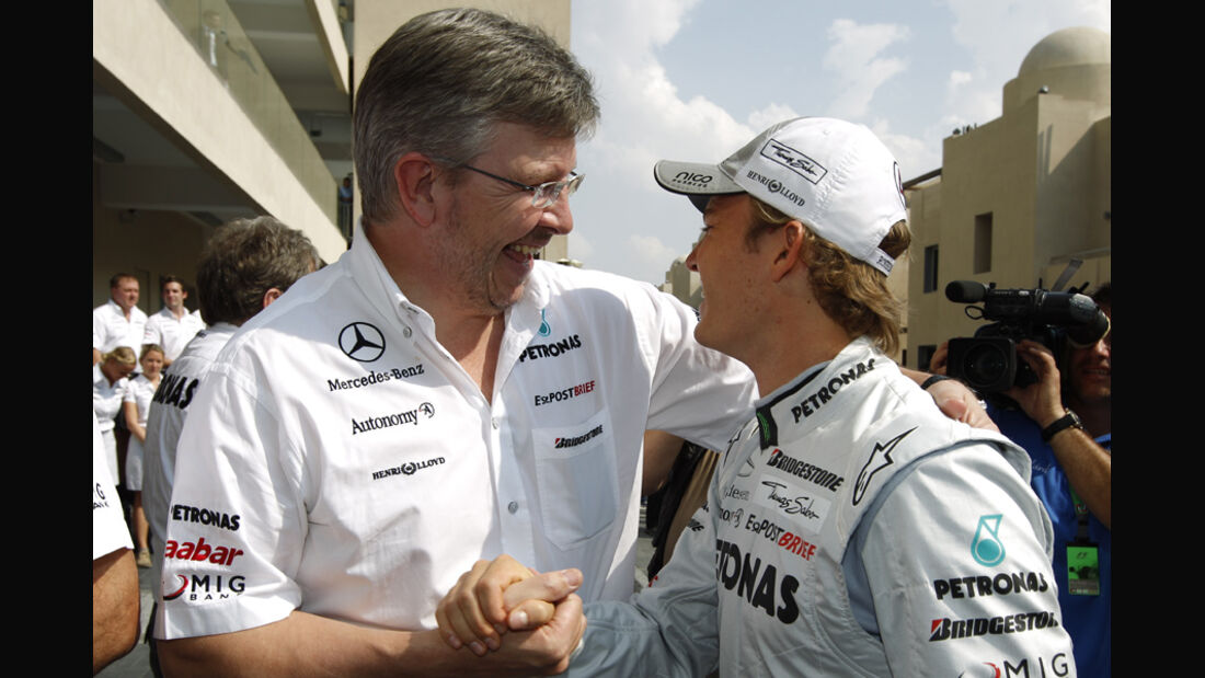 Ross Brawn & Nico Rosberg
