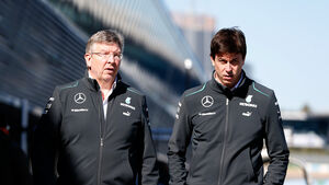 Ross Brawn & Toto Wolff - F1 2013