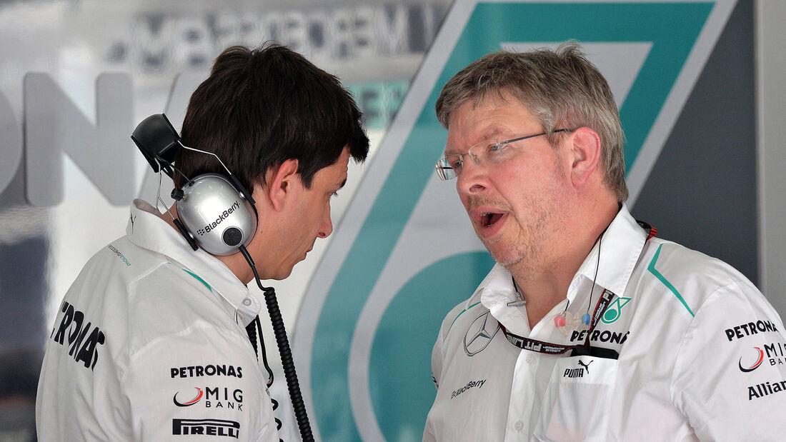 Ross Brawn & Toto Wolff - GP Bahrain 2013