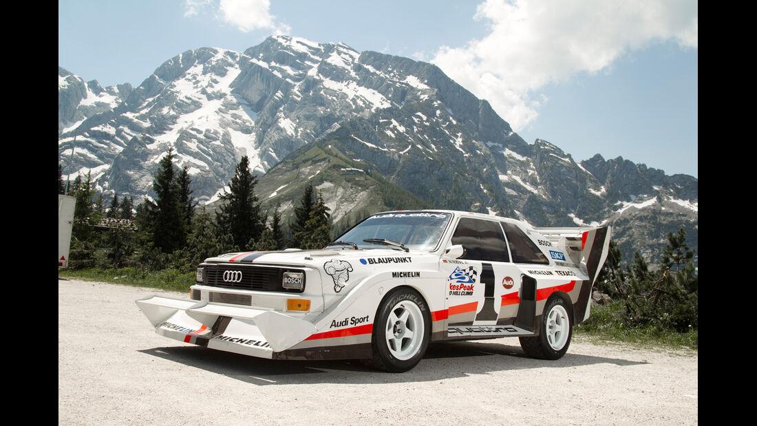 Rossfeldrennen, Audi Quattro Pikes Peak, Seitenansicht