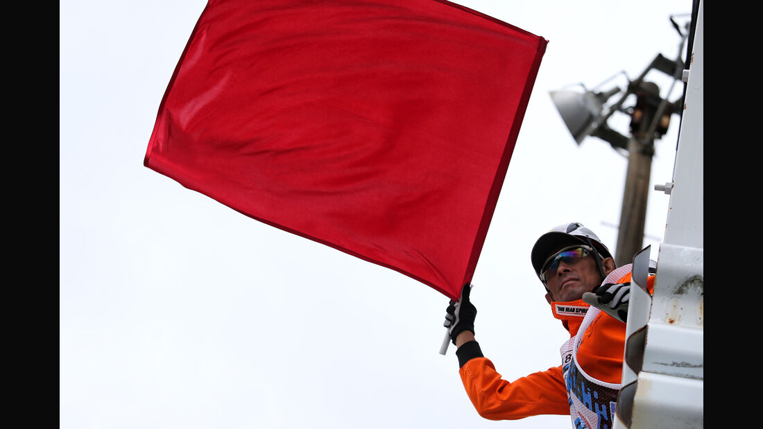 Rote Flagge - Formel 1 - GP Japan - Suzuka - 6. Oktober 2017