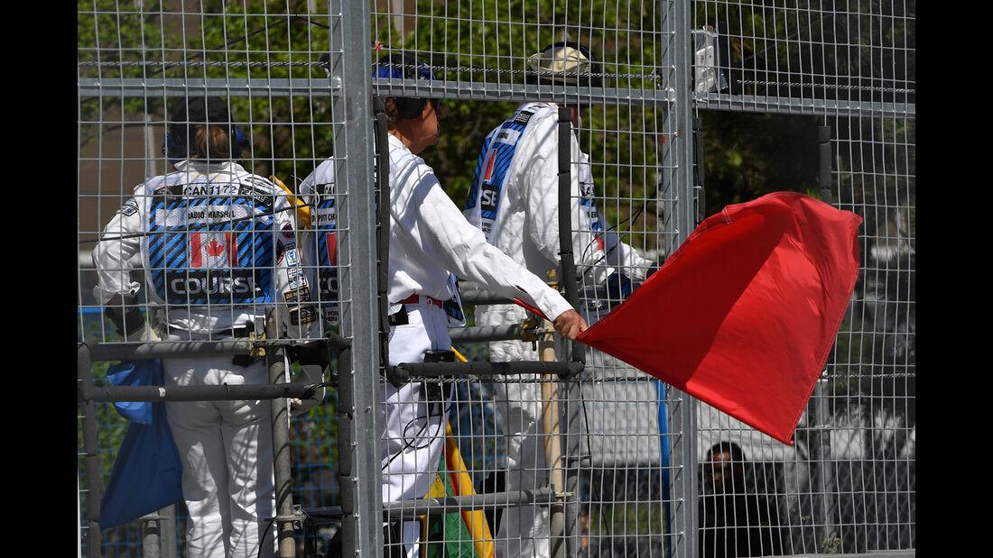 Rote Flagge - Formel 1 - GP Kanada - Montreal - 8. Juni 2018