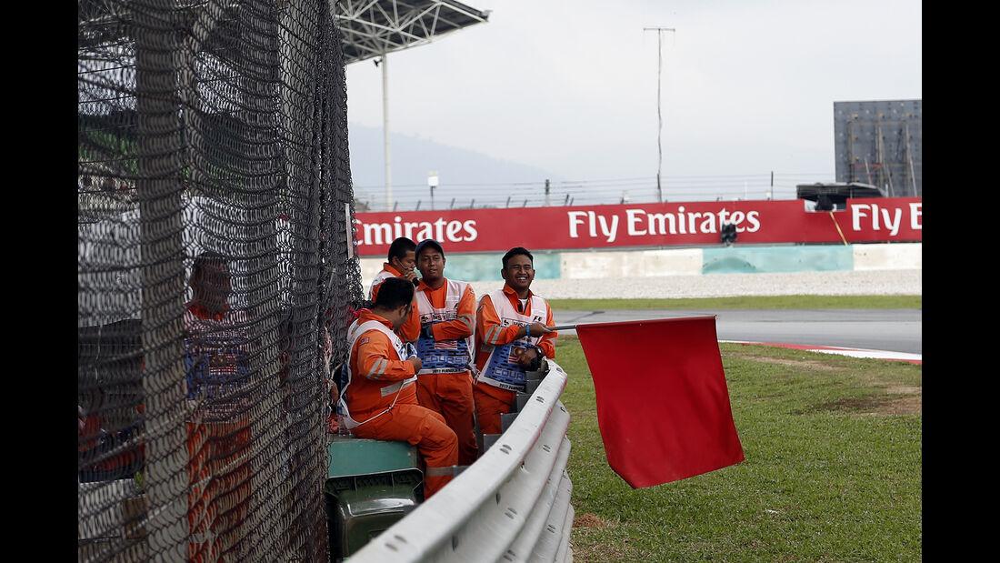 Rote Flagge - Formel 1 - GP Malaysia - Sepang - 29. September 2017