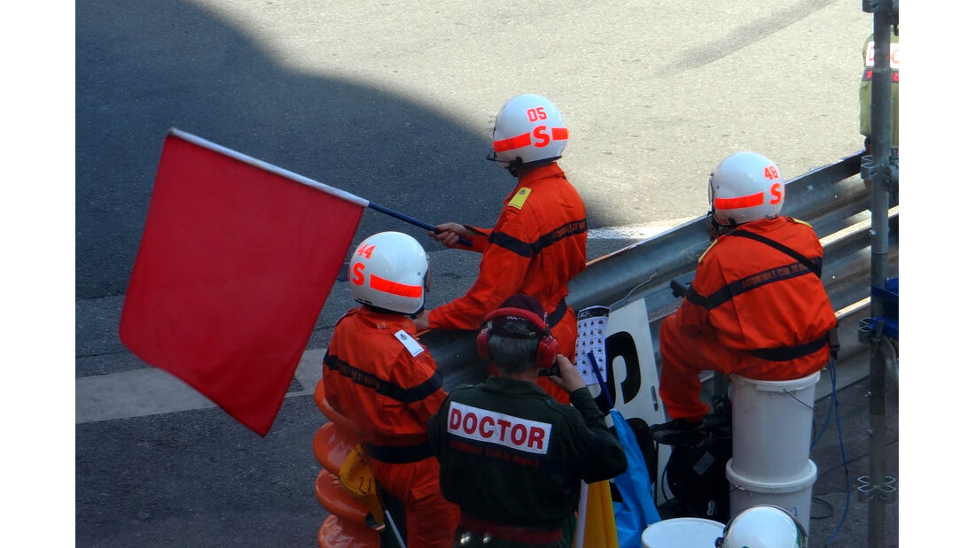 Rote Flagge - Formel 1 - GP Monaco - 24. Mai 2012
