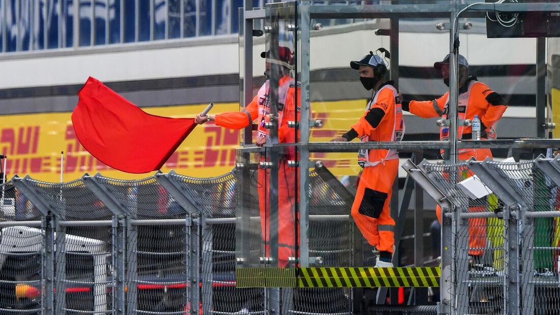 Rote Flagge - Formel 1 - GP Russland - Sotschi - 26. September 2020