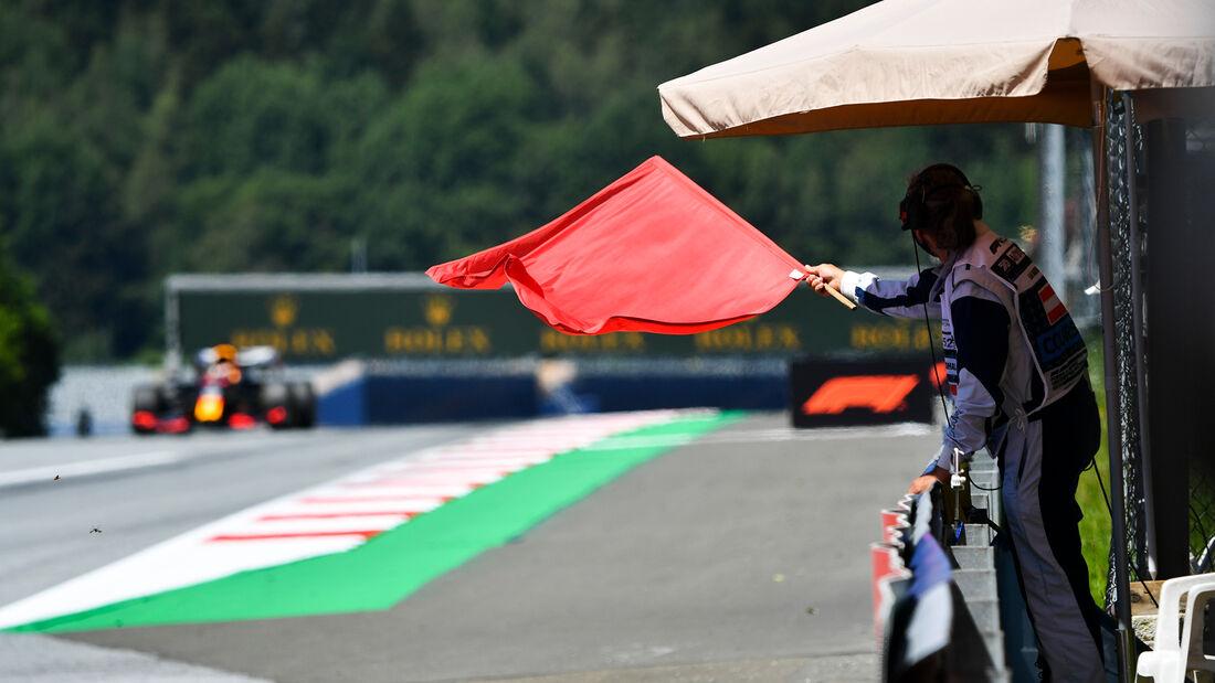 Rote Flagge - Formel 1 - GP Steiermark - Österreich - Spielberg - 10. Juli 2020