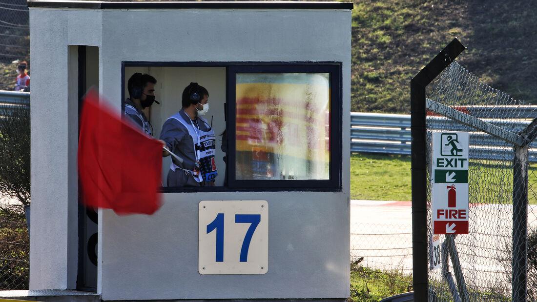Rote Flagge - Formel 1 - GP Türkei - Istanbul - Freitag - 13.11.2020