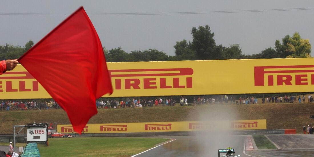 Rote Flagge - Formel 1 - GP Ungarn - 23. Juli 2016