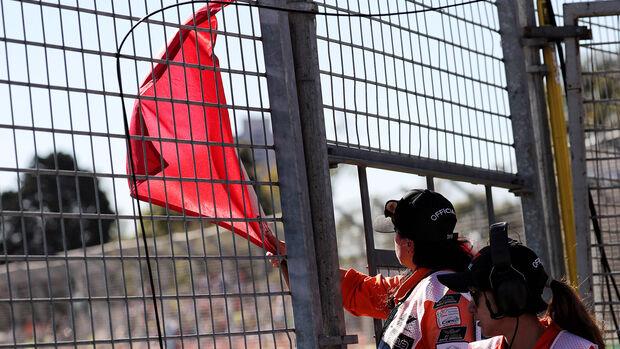 Rote Flagge - GP Australien 2018