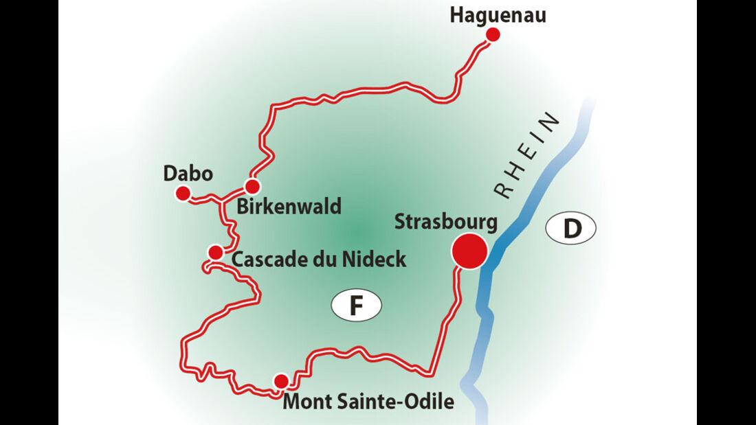 Route, Reise Vogesen