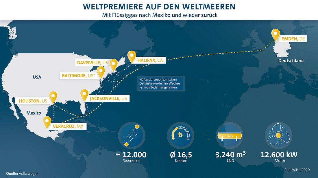 Route VW Erdgasschiff Siem Confucius
