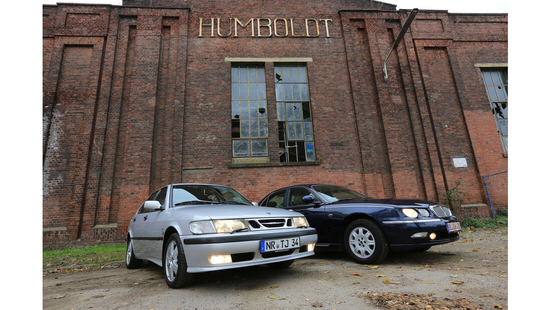 Rover 75 2.5 V6, Saab 9-3 2.0 Turbo, Frontansicht