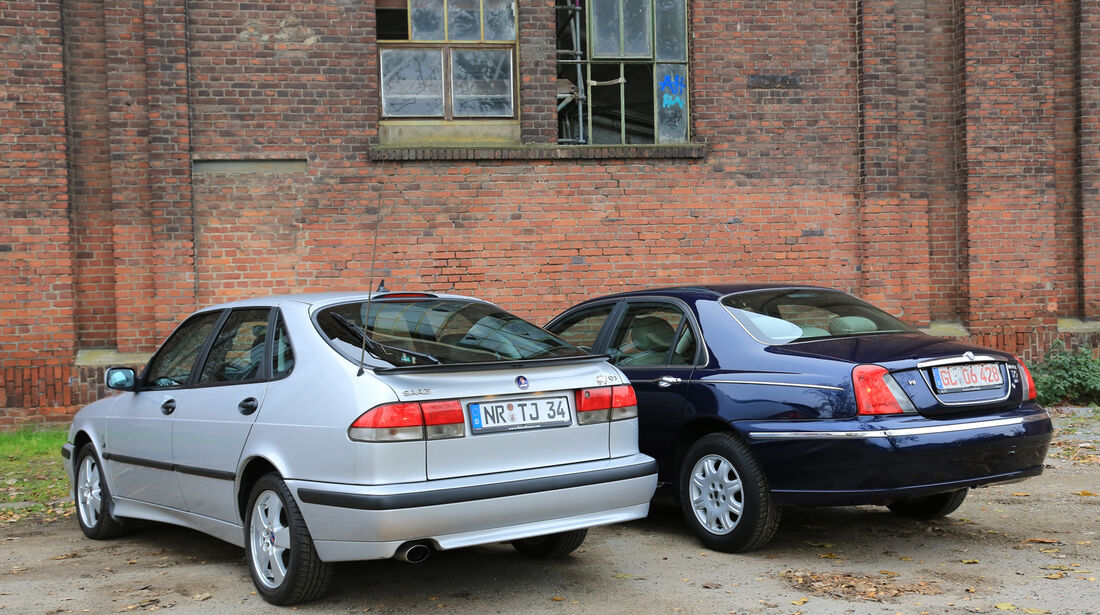 Rover 75 2.5 V6, Saab 9-3 2.0 Turbo, Heckansicht