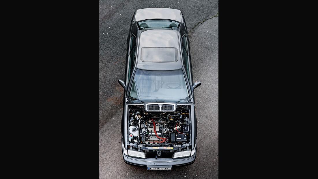 Rover 827 Coupé, Ansicht von oben, Motorraumeinsicht