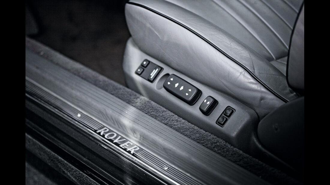 Rover 827 Coupé, elektrische Sitzverstellung, detail