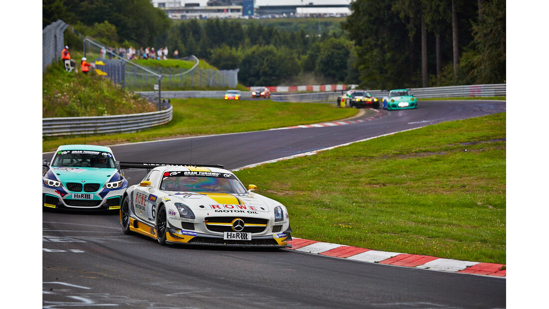 Rowe Mercedes SLS - VLN Nürburgring - 6. Lauf - 2. August 2014