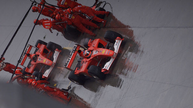 Rubens Barrichello - Michael Schumacher - Ferrari - GP Malaysia 2001