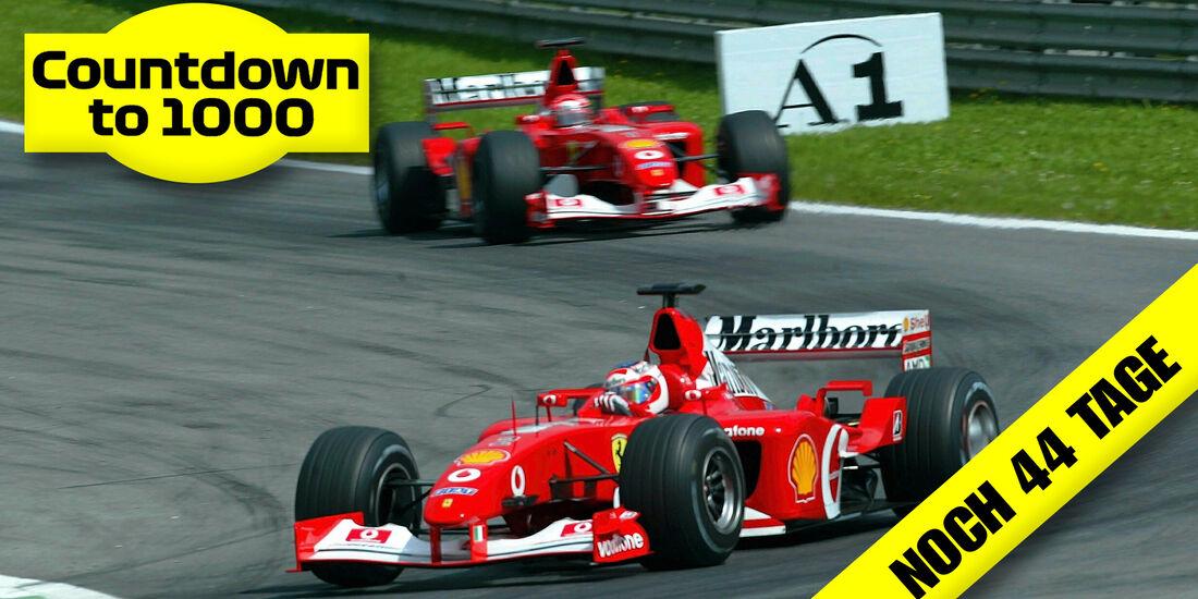 Rubens Barrichello - Michael Schumacher - Ferrari - GP Österreich 2002