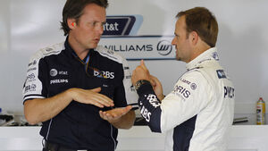 Rubens Barrichello und Sam Michael