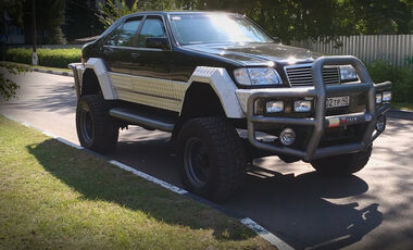 Russland Mercedes S500 Offroad 4X4 Umbau