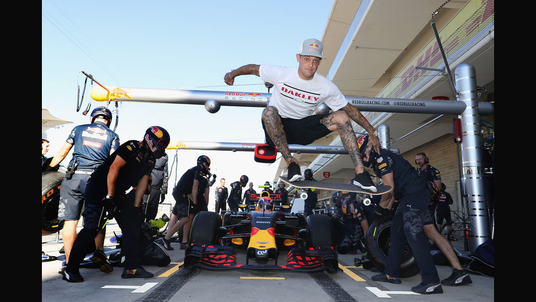 Ryan Sheckler - Red Bull - Formel 1 - Austin - GP USA - 22. Oktober 2016