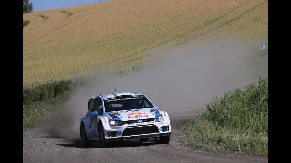 Sébastien Ogier - Rallye Finnland 2014 - Tag 3 - WRC - VW Polo R WRC