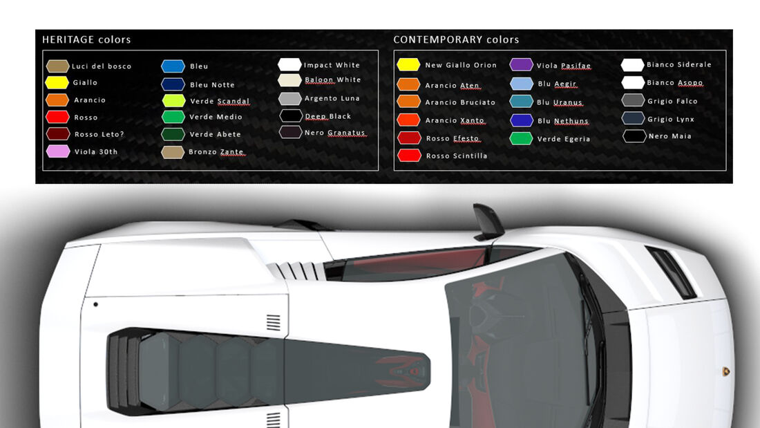 SPERRFRIST 19. August 21 19.30 Uhr Lamborghini Countach LPI-800 4 Farben
