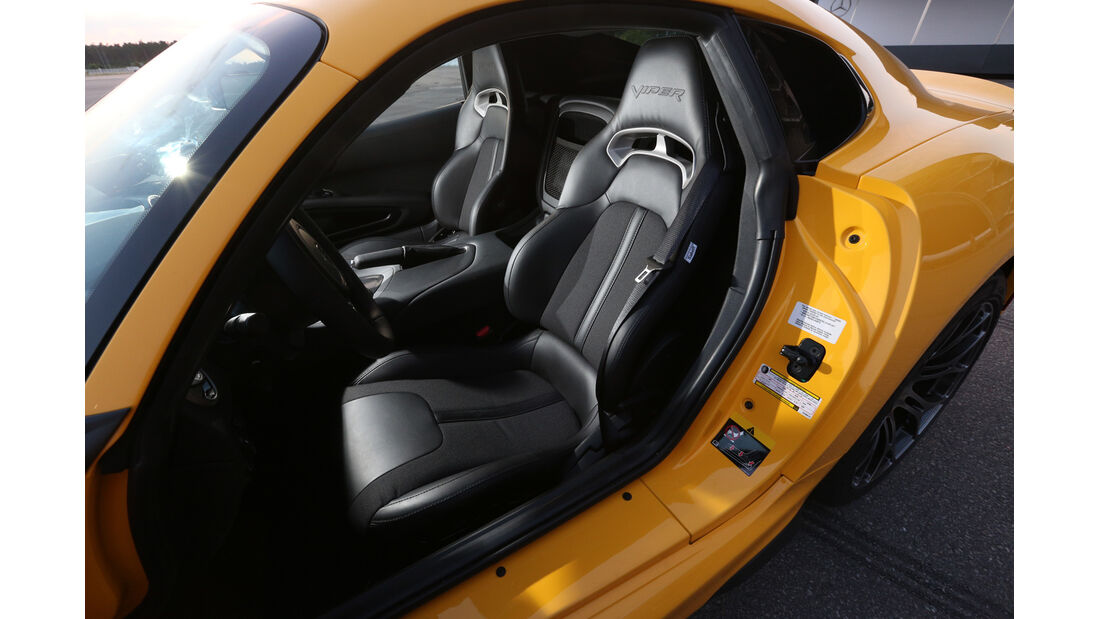 SRT Viper, Fahrersitz
