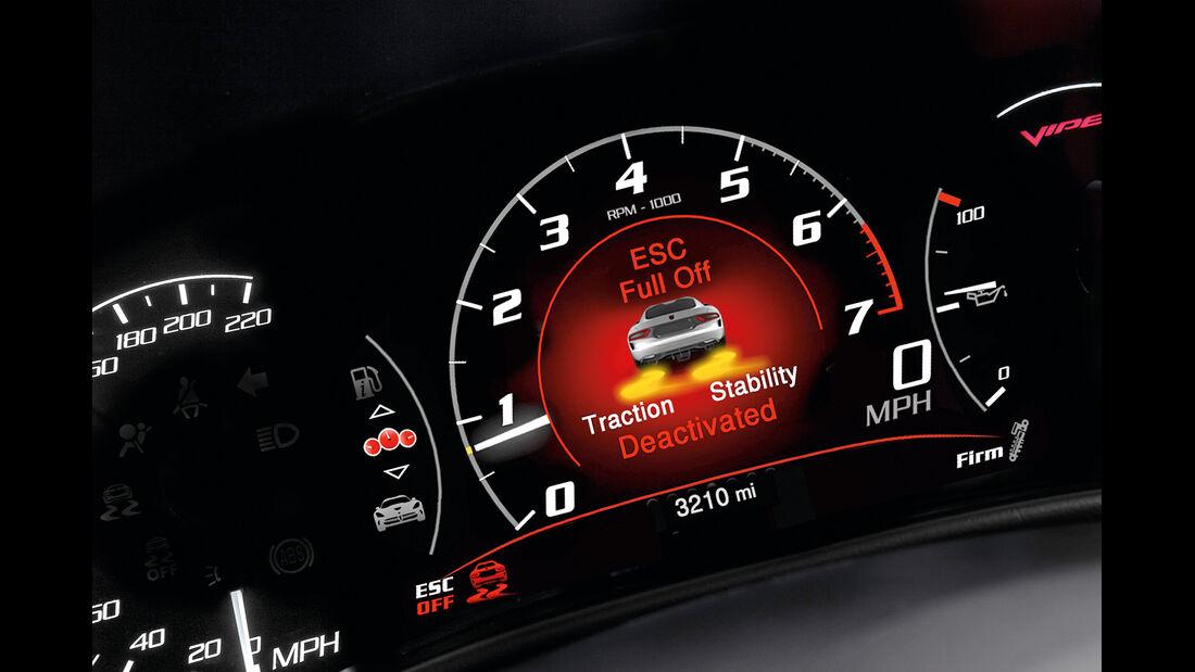 SRT Viper GTS, Rundinstrumente