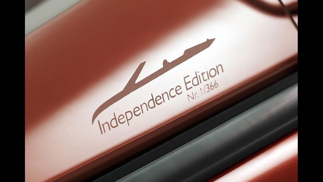 Saab 9-3 Cabrio Independence Edition, Schriftzug