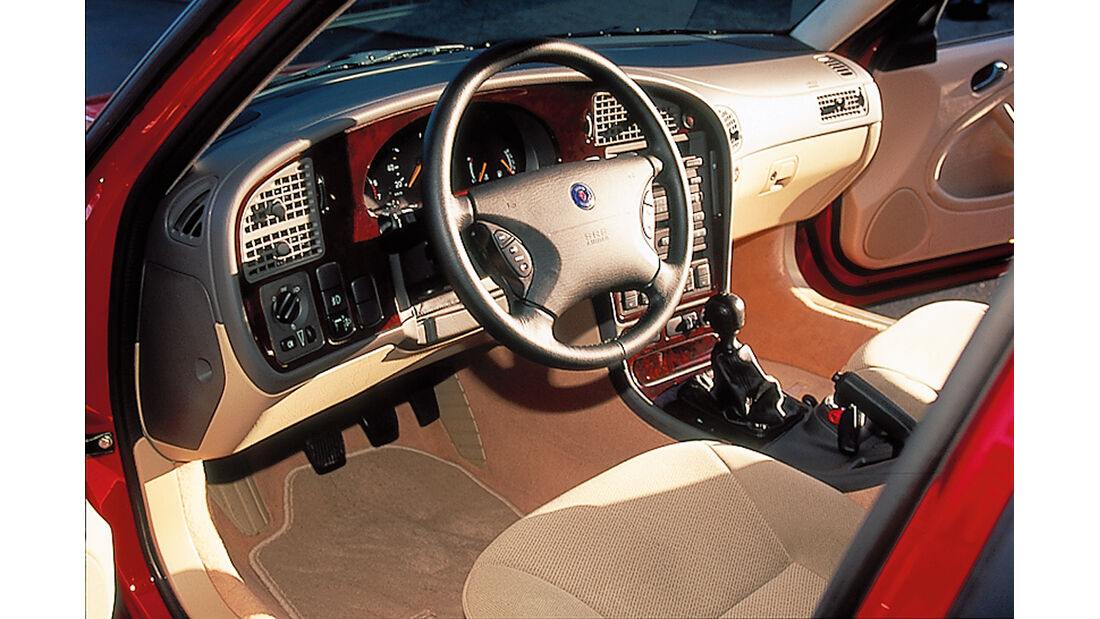 Saab 9-5 2.3t Kombi, Cockpit